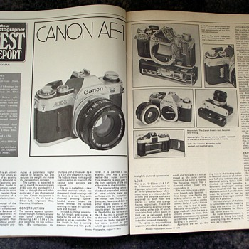 1976-cameras-the canon ae1-'amateur photographer'. - Cameras