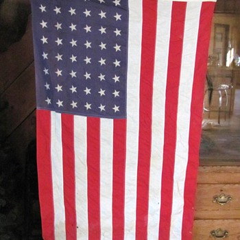 American flag with 48 stars - Military and Wartime