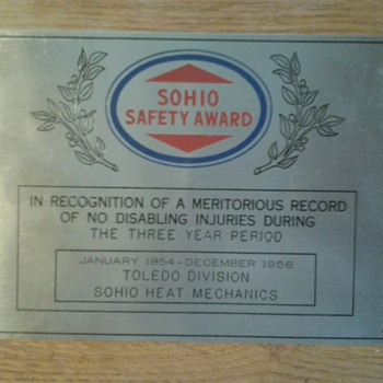Sohio Safety Award - Petroliana