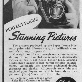 1951 - Zeiss Ikonta-B Camera Advertisement - Advertising