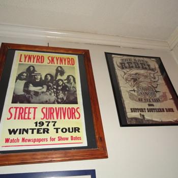 framed Lynyrd skynyrd posters