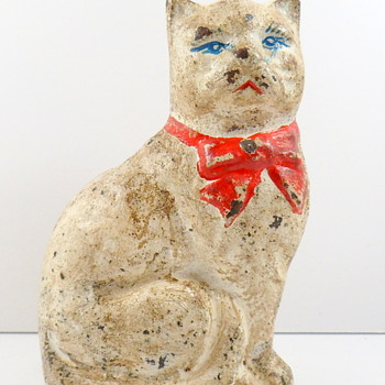 Cast Iron Cat Still Bank - Coin Operated