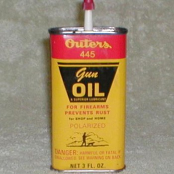 Outers 445 Gun Oil Tin - Outdoor Sports
