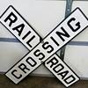 Cast Iron Railroad Crossing Sign