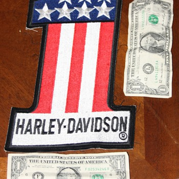 Harley Davidson #1 (number one) patch - Motorcycles