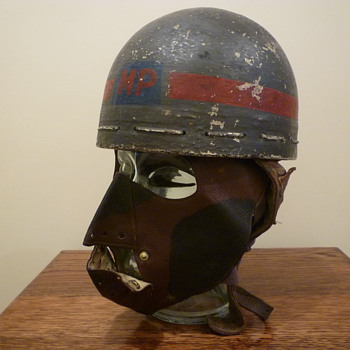 Scarce British WWII Dispatch Riders Face Mask - Military and Wartime