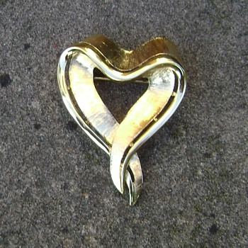 Trifari Heart Brooch