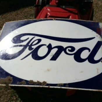Metal Ford Sign - Signs
