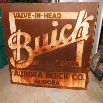 Aurora Buick Co. sign  - Advertising