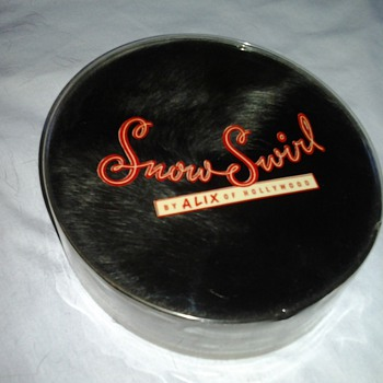 1960 Pill Box Hats ~ Snow Swirl Fur & Black Fabric with Hat Box