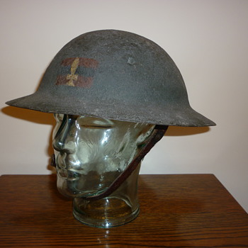 British WWI first pattern steel helmet