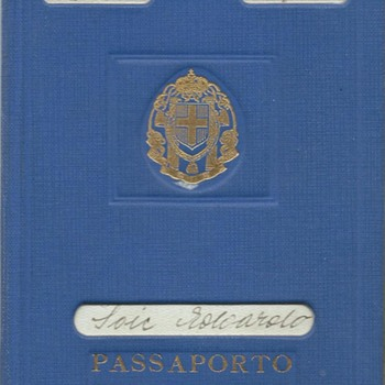 1942 Italian temporary passport & RSI extension  - Paper