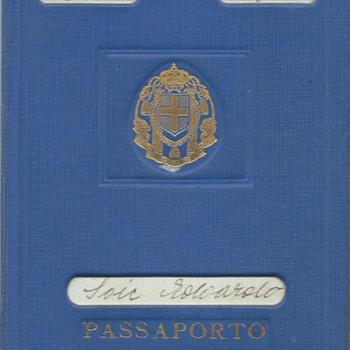 1942 Italian temporary passport & RSI extension