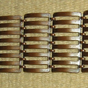fence link solid copper bracelet - Costume Jewelry