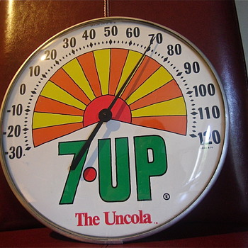 7up Round Sunrise 71' Thermometer