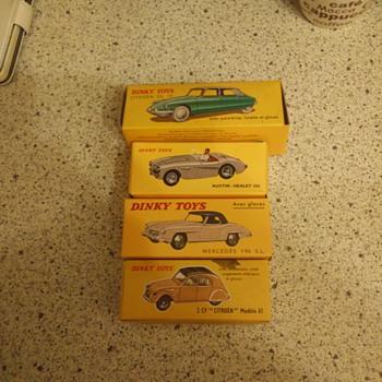 Dinky toys 4 cars,