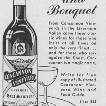 1954 Concannon Wine Advertisement - Advertising