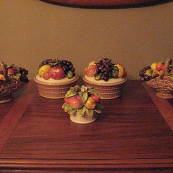 I am not quite sure what you would call them - fruit pottery?  china? - Art Pottery