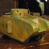 "Gebruder Bing of Nurnberg, clockwork ""Tank with guns"" 1920s tinplate."