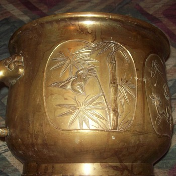 Antique Brass Planter