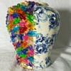 Weird floral and bird light peg vase