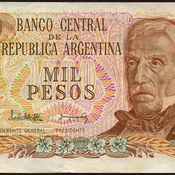 Argentina - (1000) Pesos Bank Note