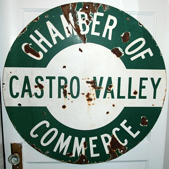 Porcelain Sign - Castro Valley Chamber of Commerce - Signs