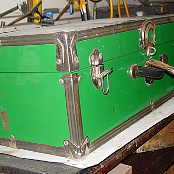 Green Steamer Trunk - Furniture