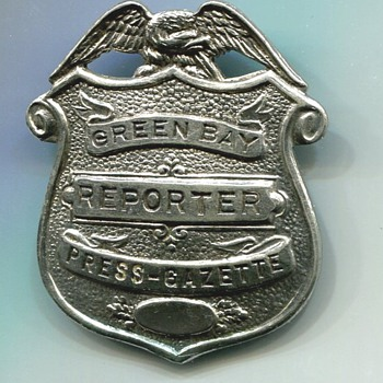 Green Bay Wisconsin Press-Gazette Reporter's Badge