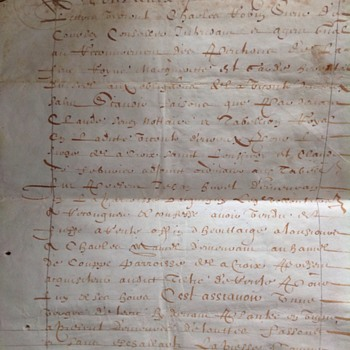 1630 French Document on Vellum - Saint Croix, Maine...?