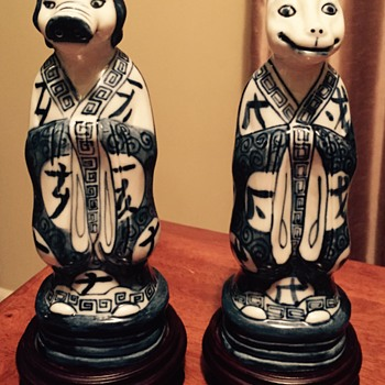 Chinese porcelain figures dog and pig?