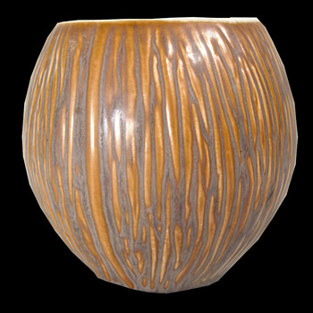 Pottery 'Coconut' Shaped Bowl or Vase