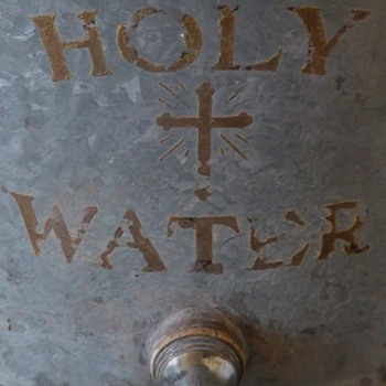 Holy Water Dispenser Vintage Galvanized