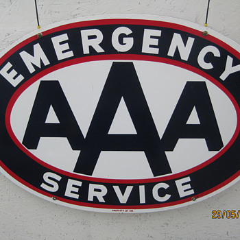 AAA porcelian sign
