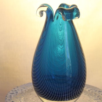 "Harrachov ""Harrtil"" Vase  50s-60s - Art Glass"
