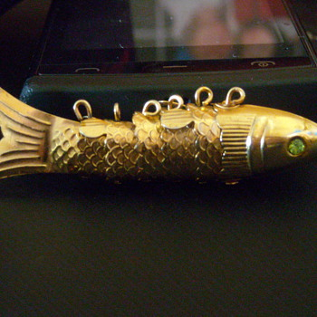 Goldtone Jointed Fish - Costume Jewelry