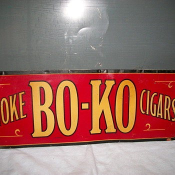 1918 Bo-Ko Cigar Sign - Tobacciana