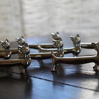 Kitty cat knife rests (2 different sets) - Kitchen