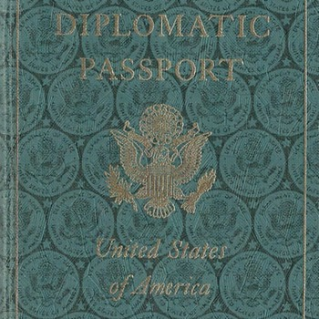 1957 US diplomatic passport - Paper