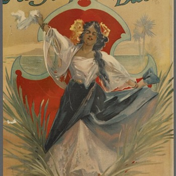 "MY FILAPINO BABE 1898, Beautiful Litho Cover, Song By Chas K. Harris, Author of  the waltz classic""After The Ball"""