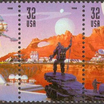 1998 - Space Discovery Postage Stamps (US) - Stamps