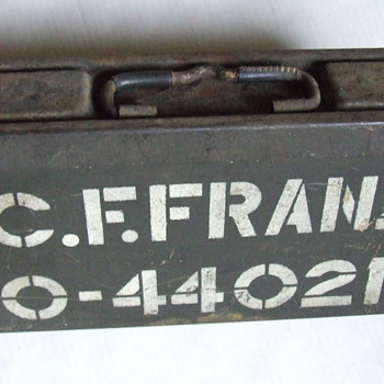 WW II items from old Army duffle bag.