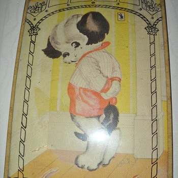DOG IN THE CORNER REVERSE PRINT - Posters and Prints