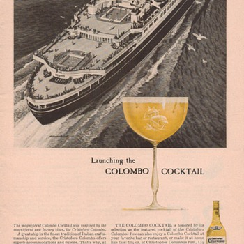 1955 Columbus Rum Advertisement 1 - Advertising