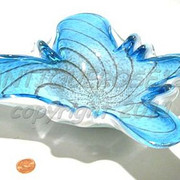 Murano Art Glass Butterfly - Fratelli Toso  ( 1 of 2 ) - Art Glass
