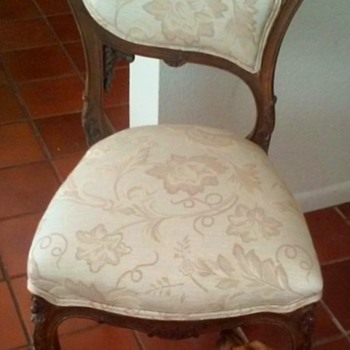 Antique Ornately Carved Wood Petite Chair - Furniture