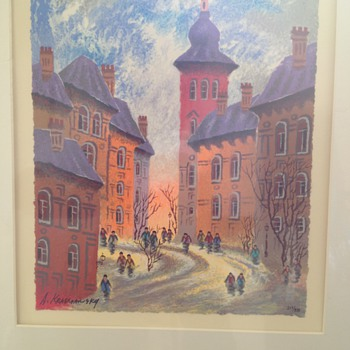 "Anatole Krasnyansky "" KRAS OLD STREET OF BRNO"" Limited Edition 217/350"