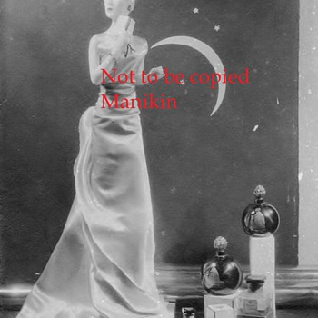Photo signed by Margit Nilsen of Mannequin on Mantel Store Display Lanvin perfume - Advertising