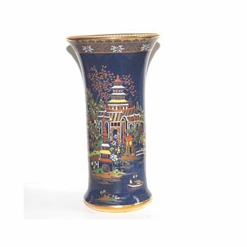 Carlton ware blue Mikado vase