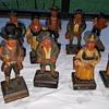 12 German Hand Carved Folk Art Wooden Figurines